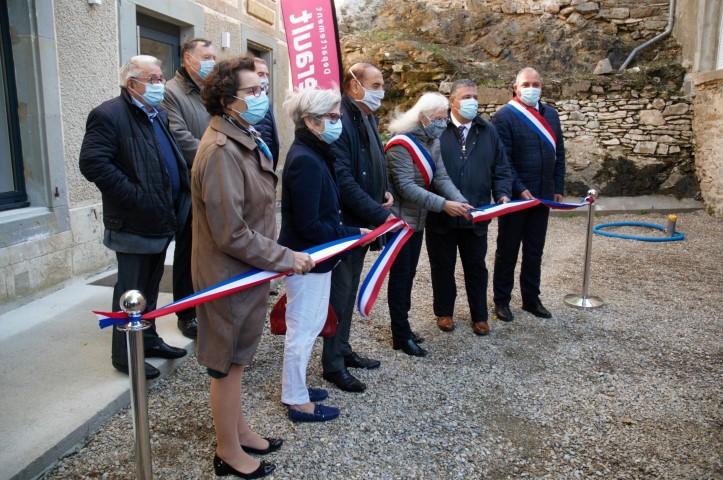 Inauguration de la mairie Cassagnoles Hérault Parc naturel régional Haut-Languedoc