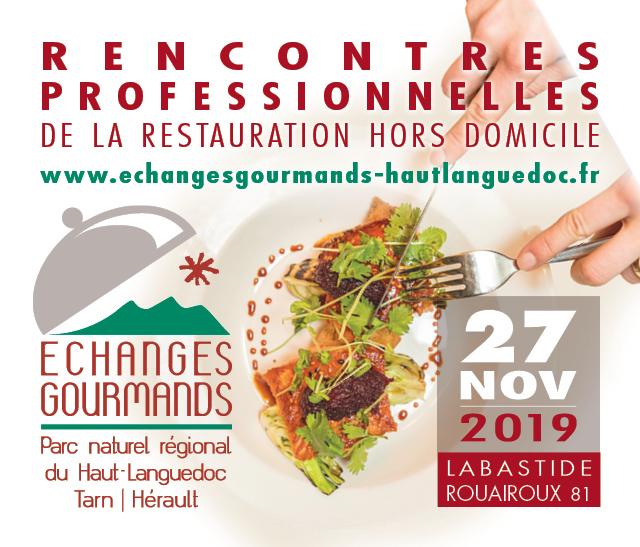 """Vignette du Salon professionnel """"Echanges Gourmands"""" organisé par le pnr Haut-Languedoc"""