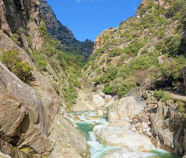 Gorges d'Héric dans le PArc naturel régional du Haut-Languedoc