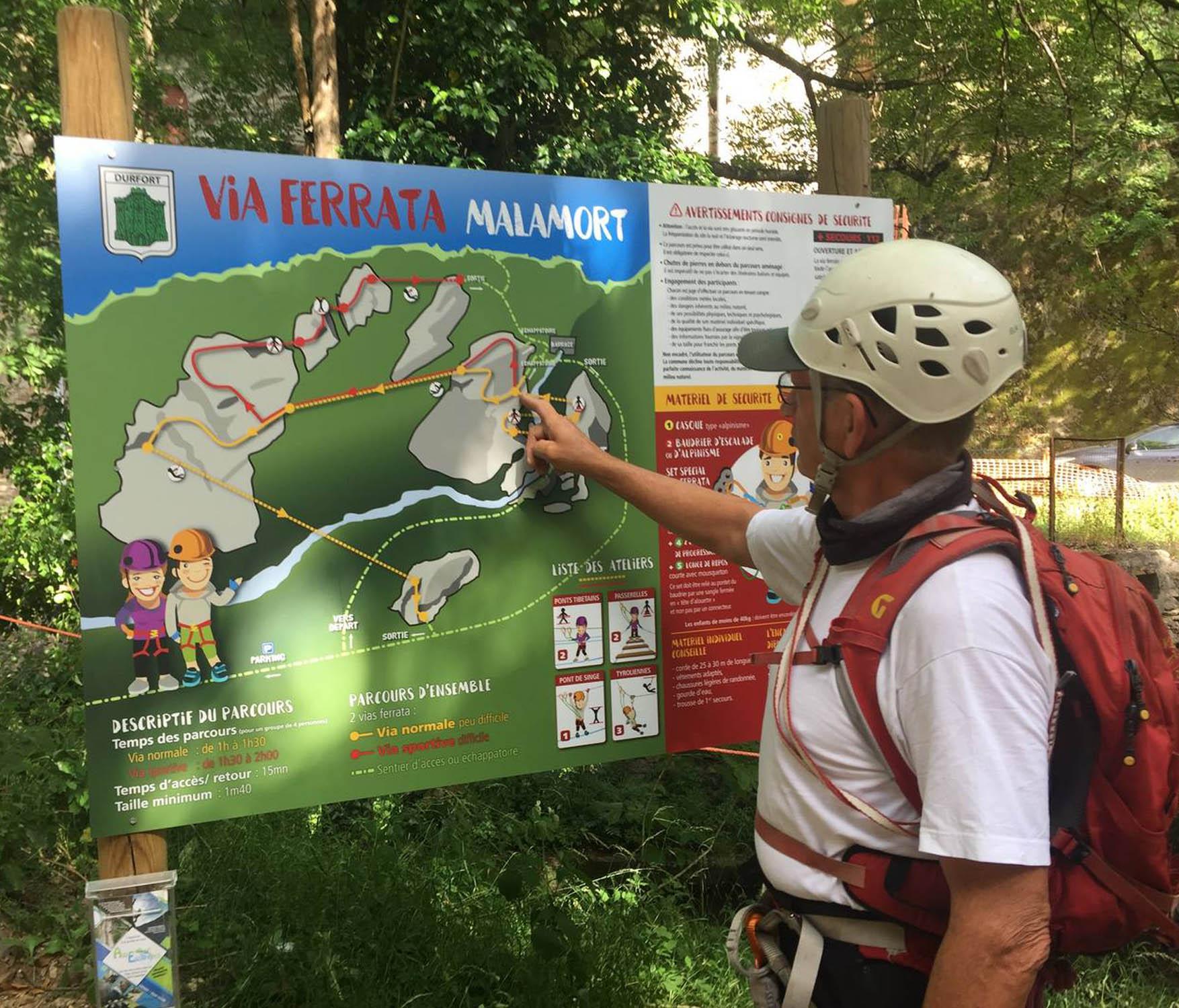 Vignette Inauguration de la Via Ferratta de Durfot dans le Parc naturel régional du Haut-Languedoc