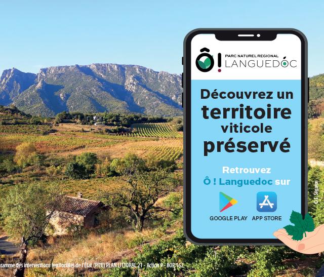 Application O! Languedoc du Parc naturel régional du Haut-Languedoc