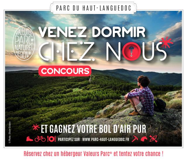 """Concours """"Venez dormir chez nous"""" dans le Parc du Haut-Languedoc"""