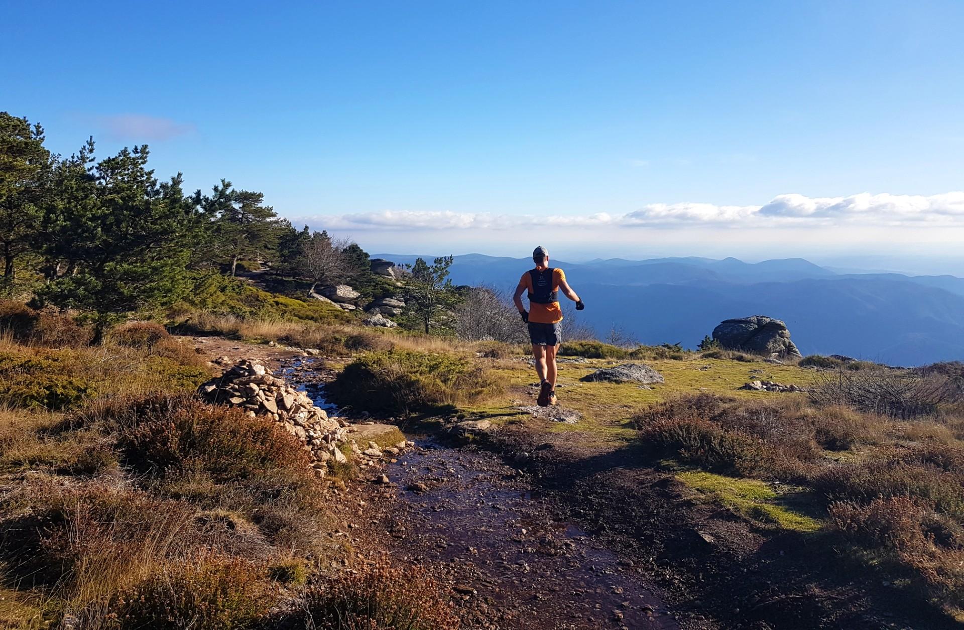 Trail sur les montagnes du Parc naturel régional du Haut-Languedoc