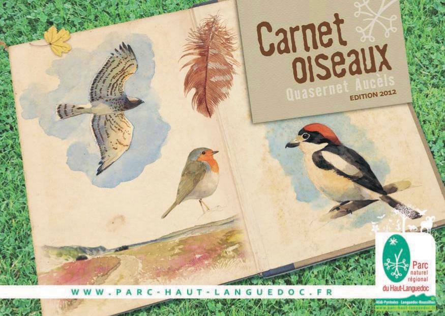 Carnet Oiseaux du Parc naturel régional du Haut-Languedoc