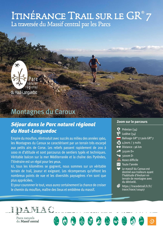 Guide Itinérance Trail Haut Languedoc