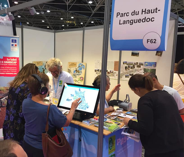 Photo Participation du Parc naturel régional du Haut-Languedoc au Salon Handica Lyon 2019