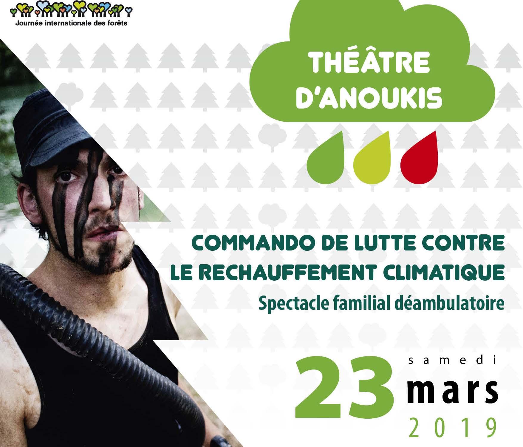 Vignette du Spectacle Opération commando climatique en Haut-Languedoc, pour la Journée internationale des Forêts dans le Pnr Haut-Languedoc