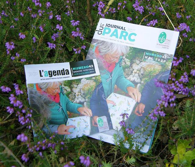 Photo du Journal et Agenda du Parc 2020 - édition 42 - publié par le Parc naturel régional du Haut-Languedoc