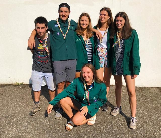 Six scouts bénévoles pour préserver l'environnement du Parc naturel régional du Haut-Languedoc
