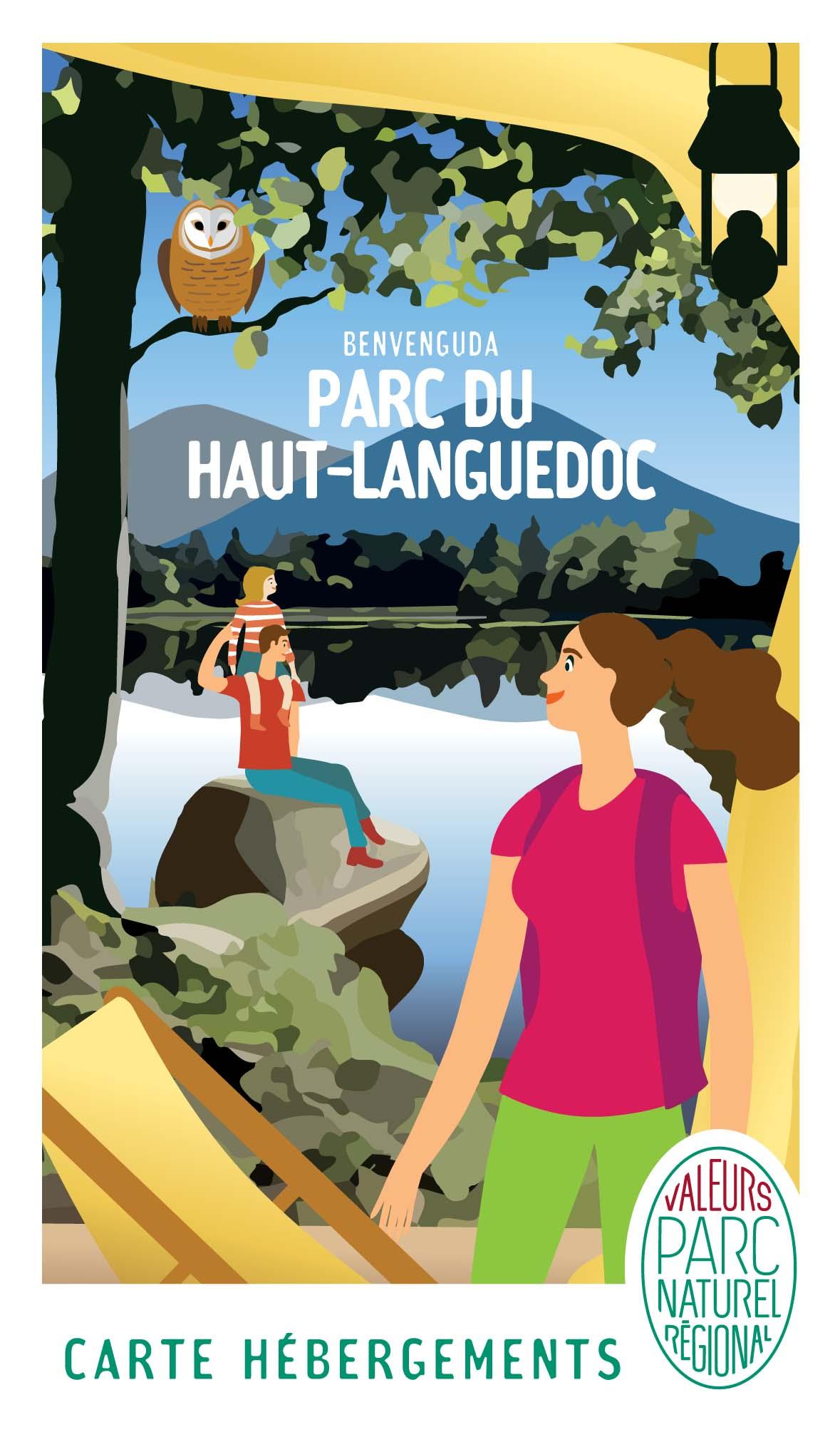 Carte des Hébergements de la marque Valeurs Parc naturel régional du Haut-Languedoc