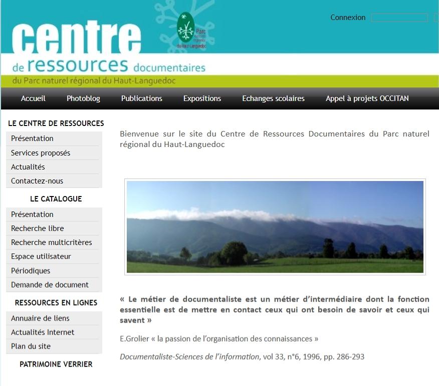 Centre de Ressources Documentaires du Parc naturel régional du Haut-Languedoc