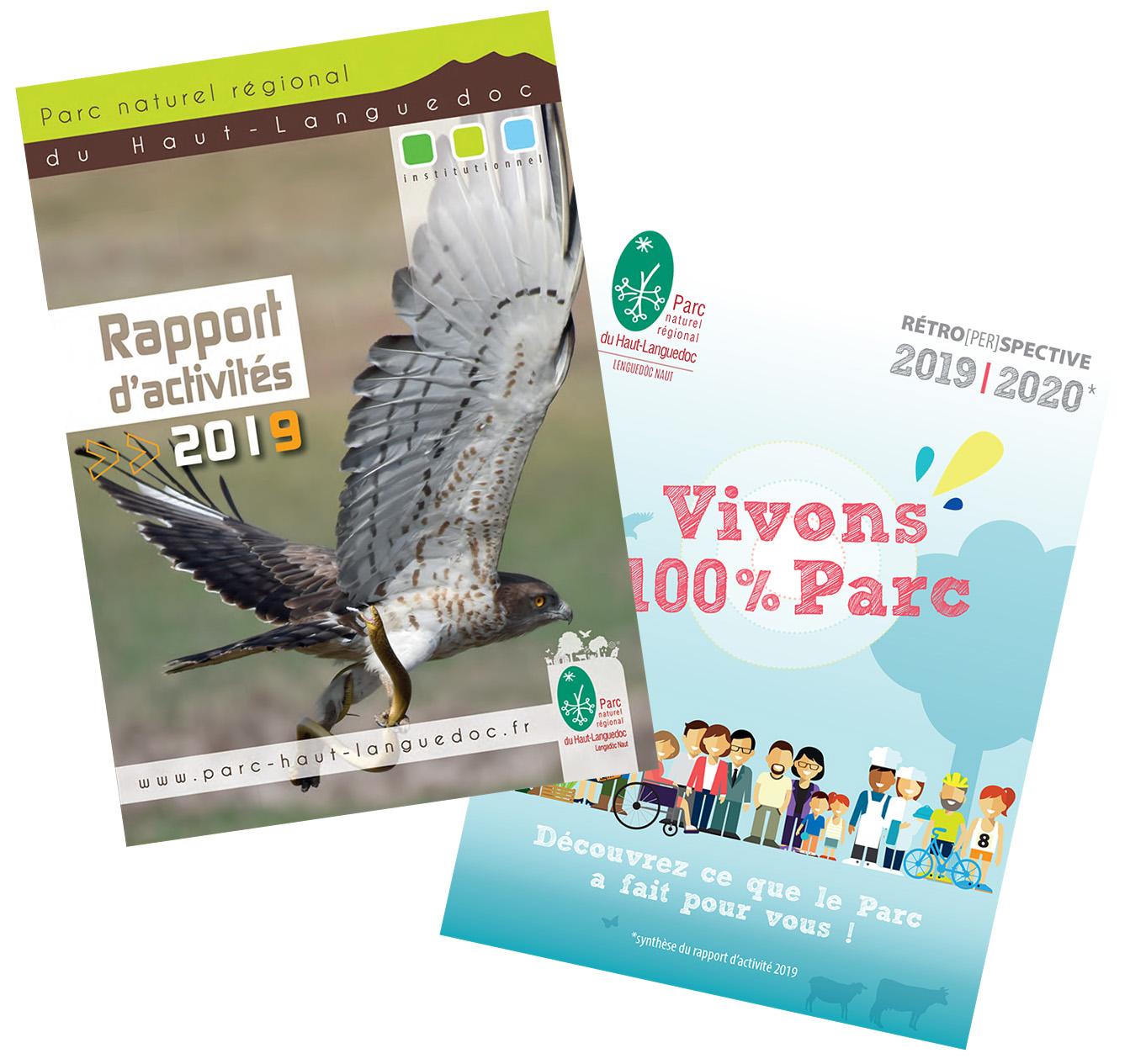 Rapport Activités et Brochure Vivons 100 Parc