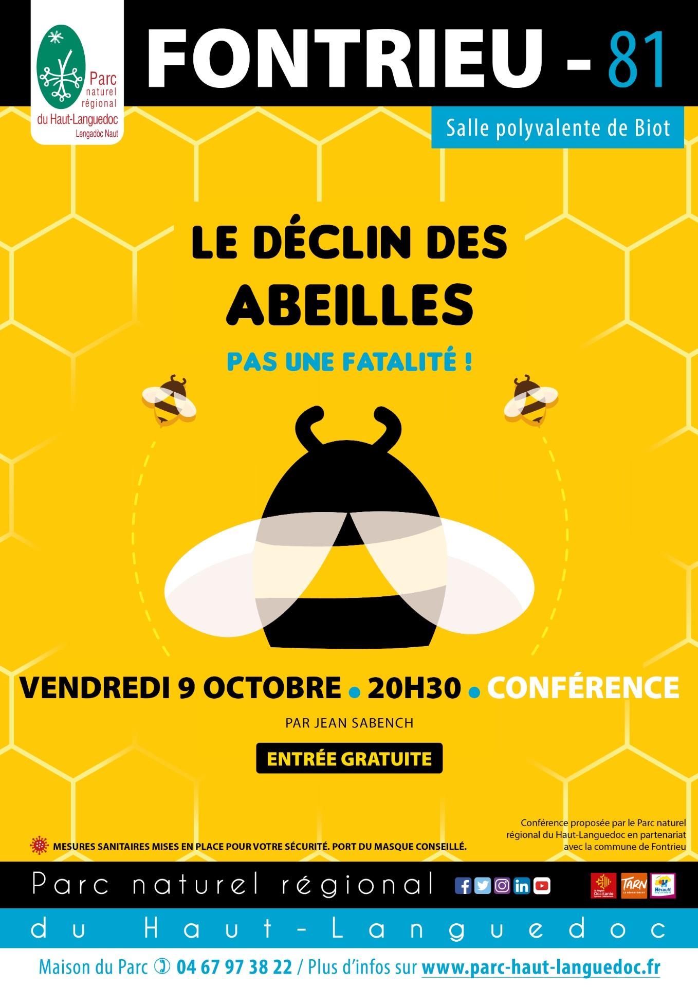 20201009 Affiche Conférence Le déclin des abeilles Fontrieu 81