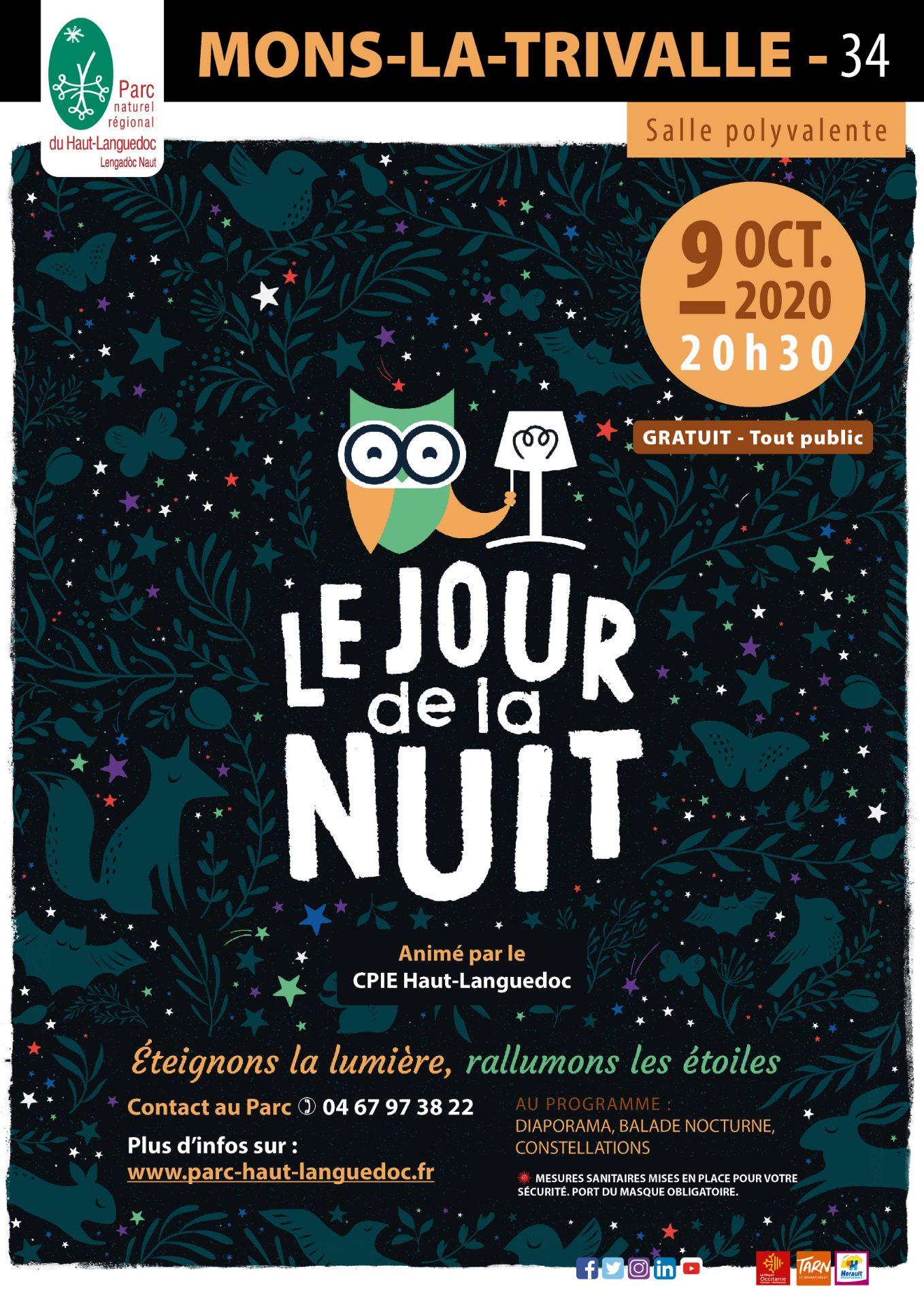 Affiche Le Jour de la Nuit à Mons la Trivalle (Hérault)
