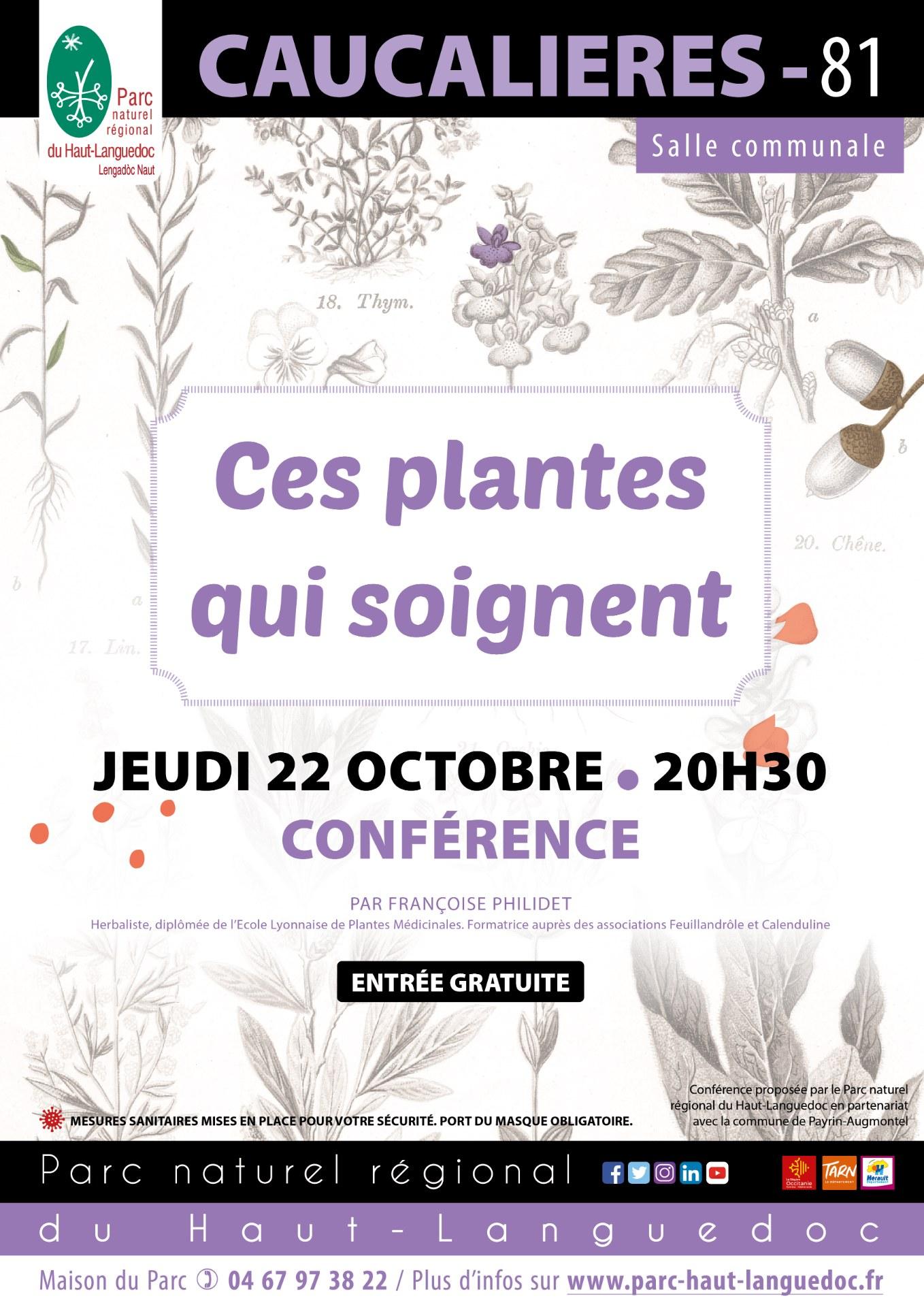 20201022 Affiche Ces plantes qui soignent Caucalières 81