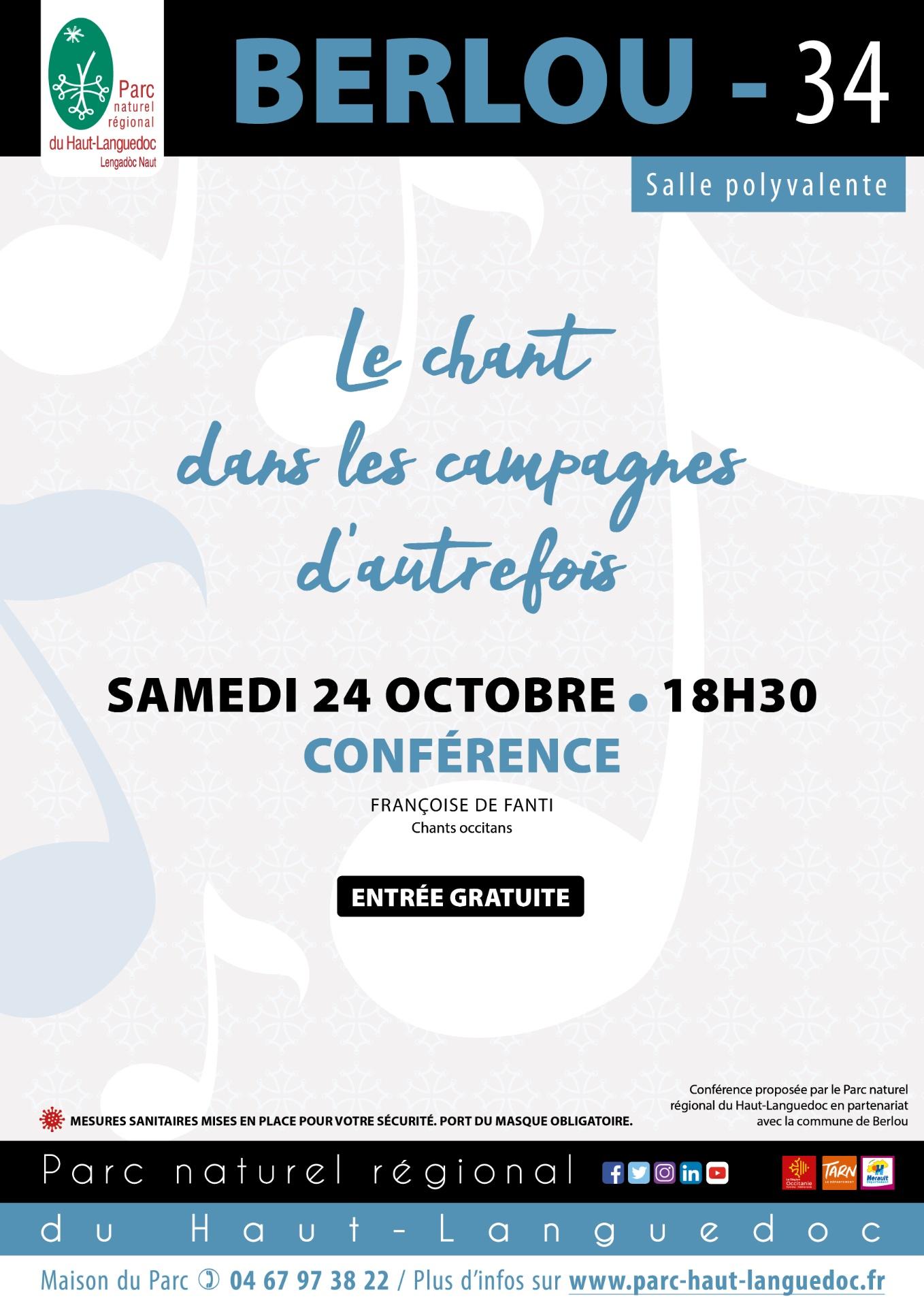 Affiche Le Chant dans les campagnes du le Haut-Languedoc