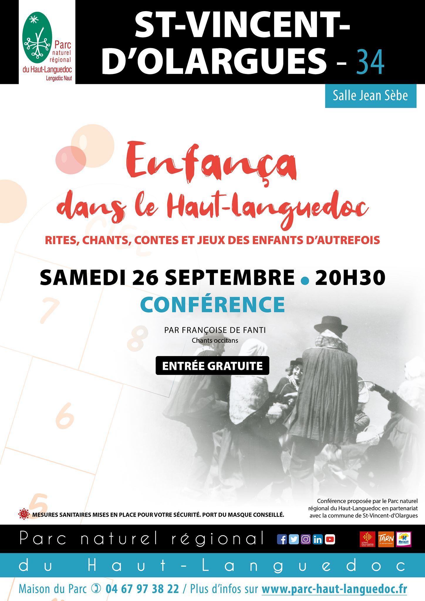 Affiche de la Conférence Enfança dans le Haut-Languedoc