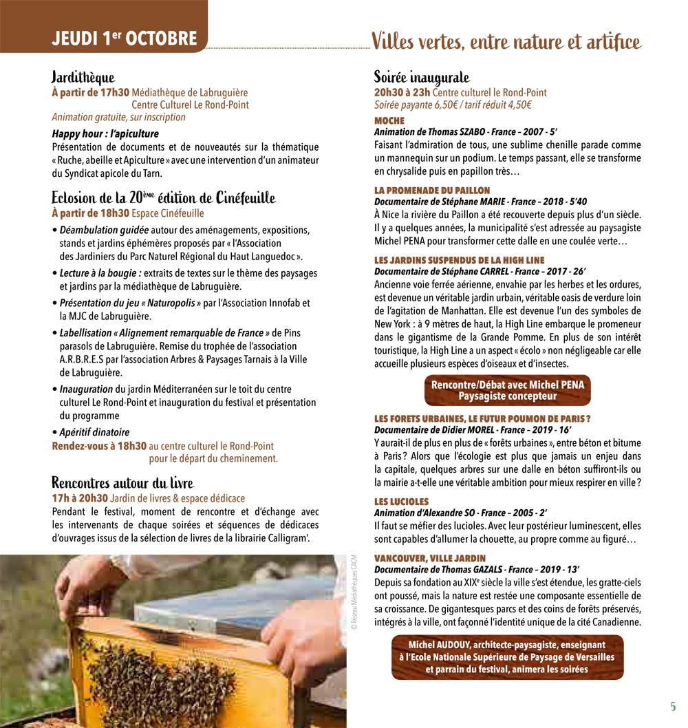 Programme Festival Cinéfeuille 22 mai 2019