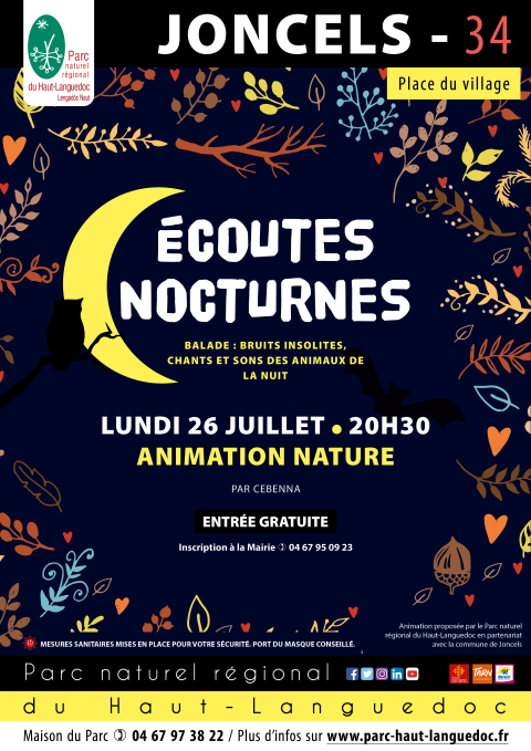 Affiche Balade naturaliste nocturne