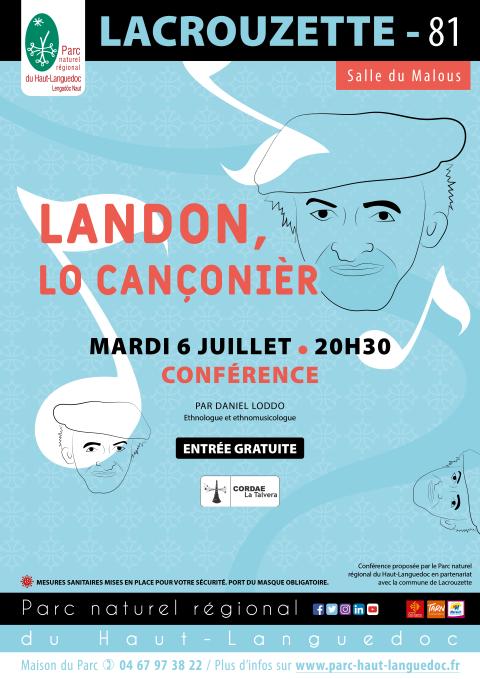 Affiche Landou le dernier chansonnier