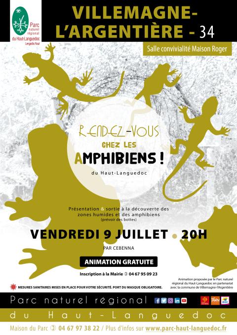 Affiche Rendez-vous avec les amphibiens à Villemagne-l'Argentière