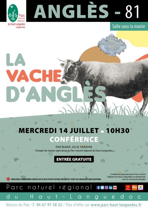 Affiche Conférence sur la Vache d'Anglès