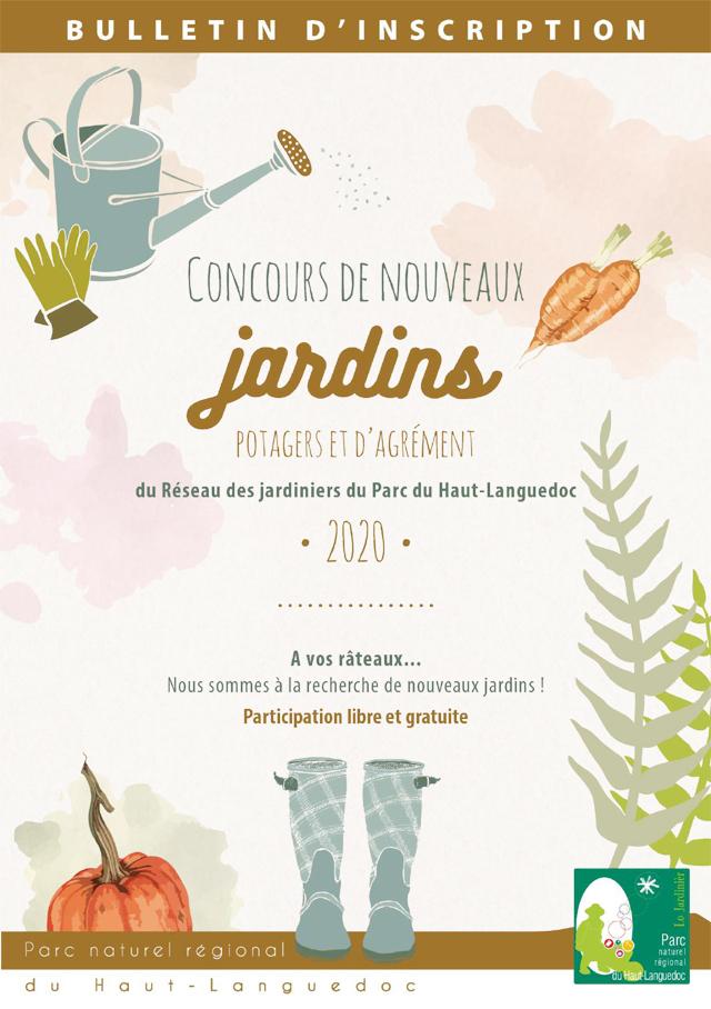 Affiche Concours des Jardins 2020