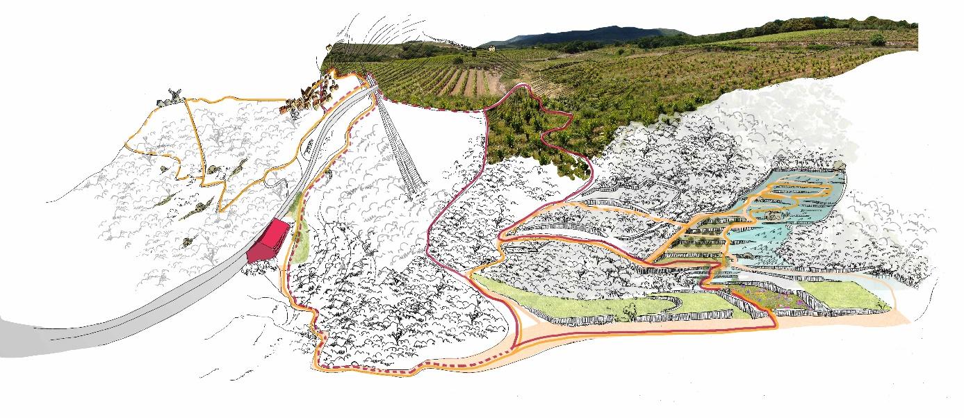 Cartographie du site des Mates Basses du Parc naturel régional du Haut-Languedoc