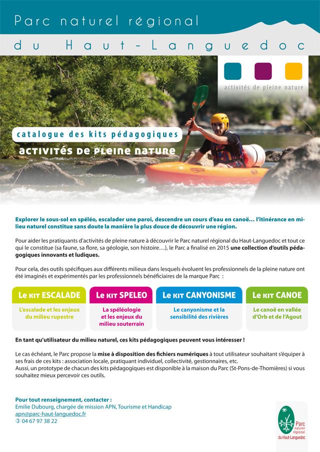 Catalogue des kits pédagogiques pour les Activités de Pleine Nature